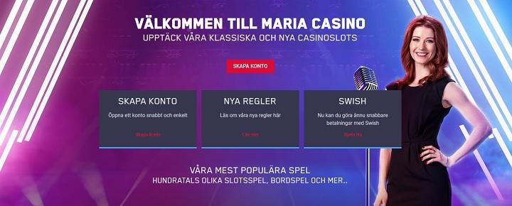 Nya välkomstbonusar hos Maria Casino 2019